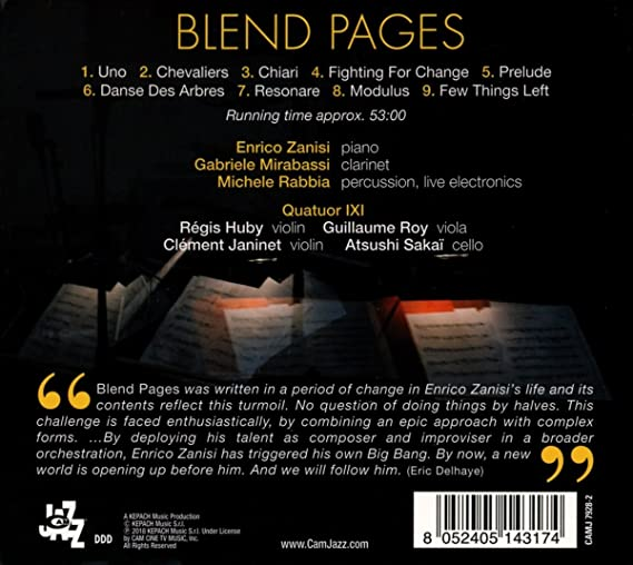 Blend Pages by Enrico Zanisi: Amazon co uk: Music