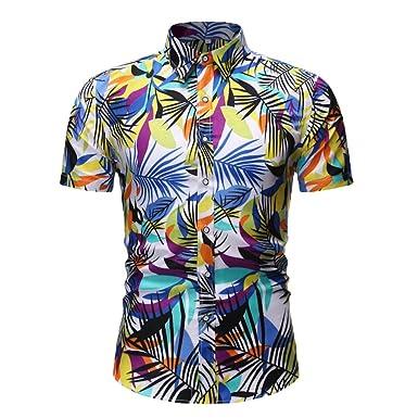 YEBIRAL Camisa Hawaiana para Hombre Verano Casual Formales Funky ...