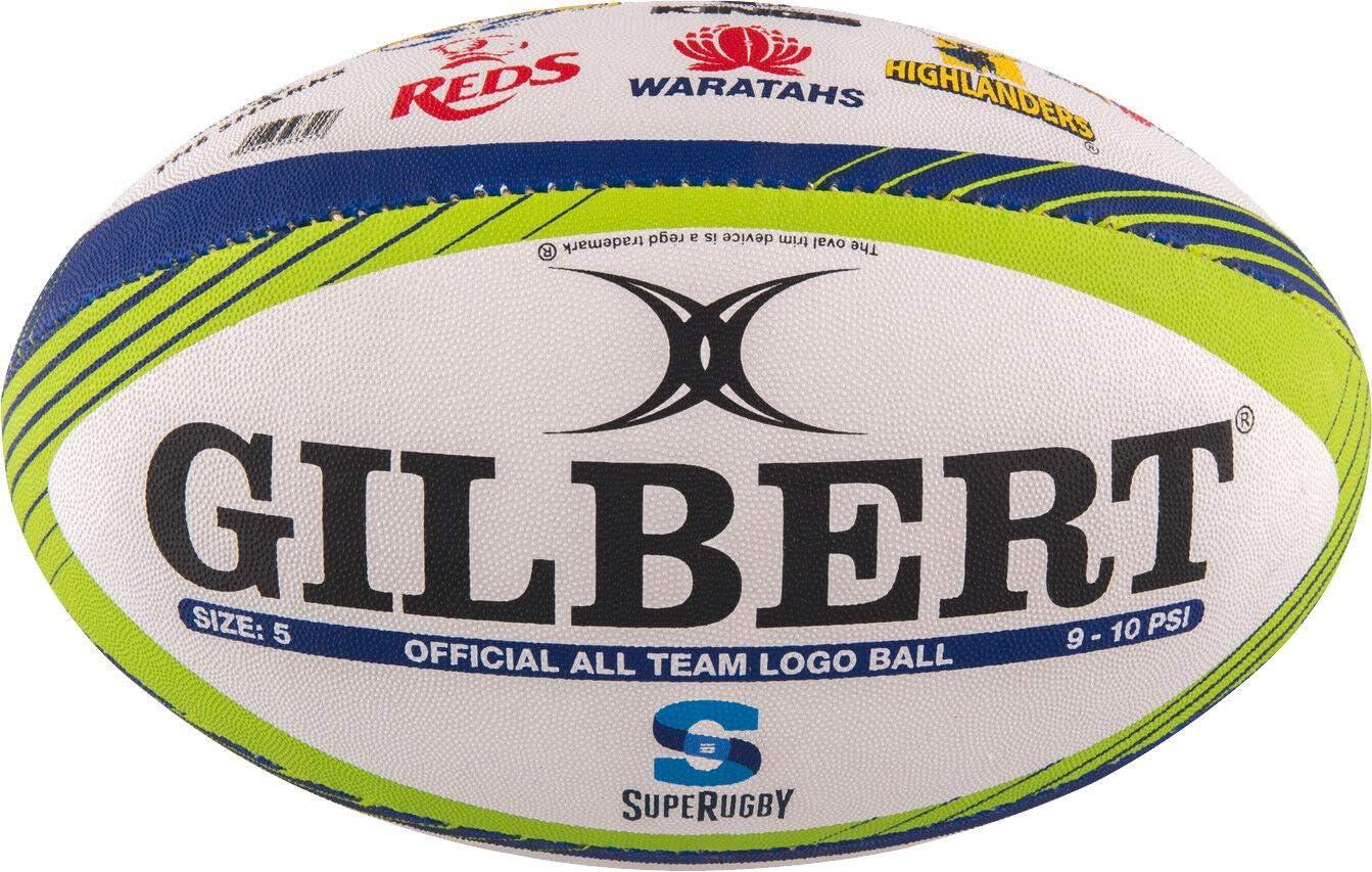 Gilbert Ballon de Rugby Memorabilia Super Rugby (Taille 5): Amazon ...