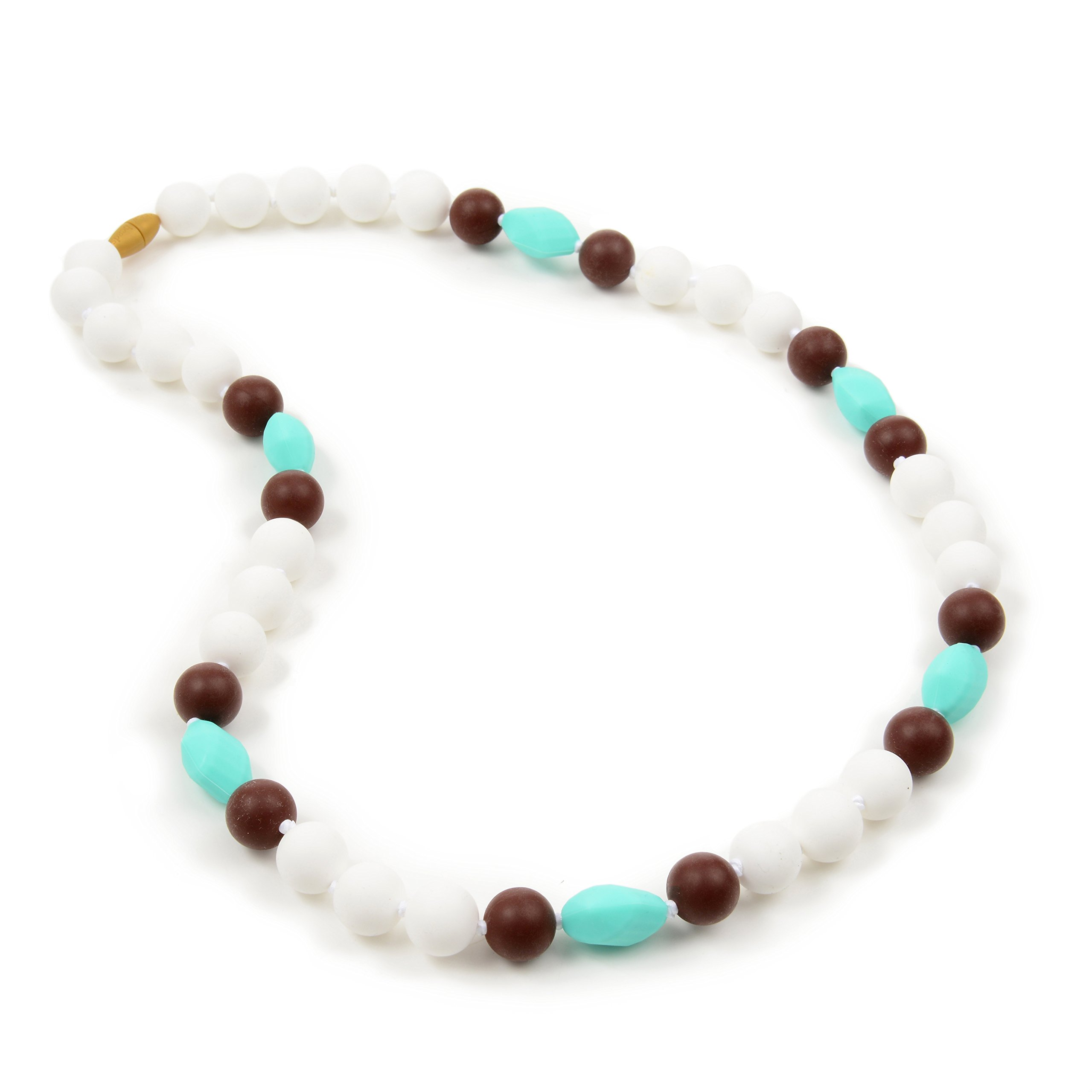Chewbeads Montauk Teething Necklace - Simply White by Chewbeads