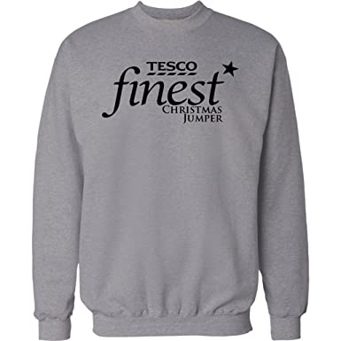 f6735eff MENS FUNNY CHRISTMAS JUMPER TESCO FINEST XMAS SWEATER GIFT PRESENT UNISEX  TOP NEW 2015 ALL SIZES S - 2XL: Amazon.co.uk: Clothing