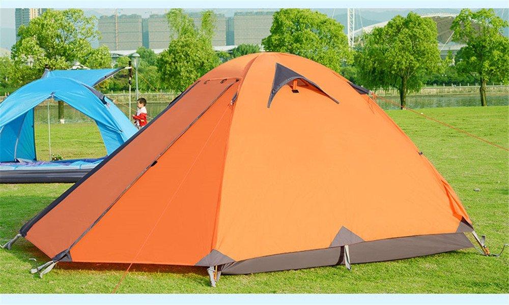 Kaxima Lluvia al Aire Libre Camping Aluminio Poste Doble Tienda