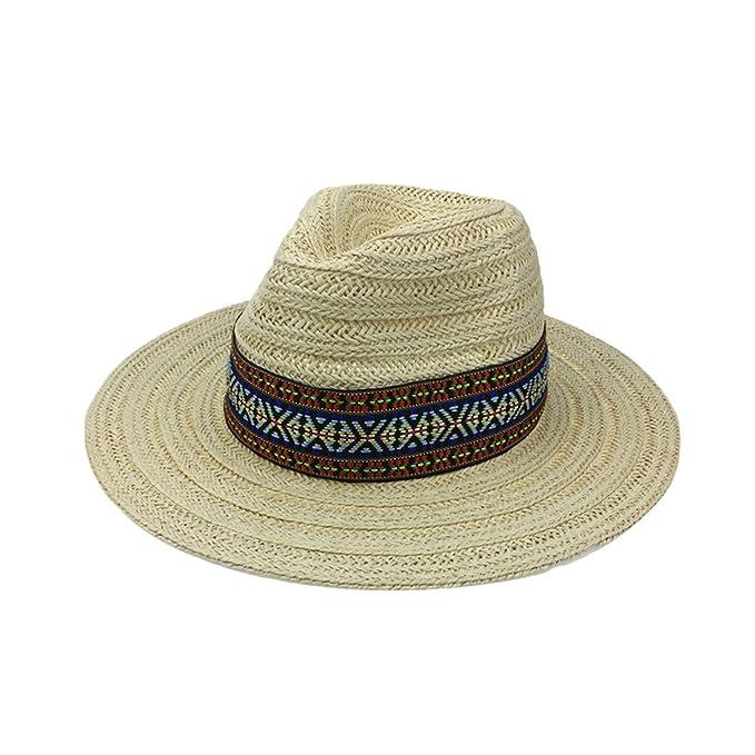 Cookisn Women Beach Sunhat Man Gorras para Mujer Verano YY18048 Beige Straw Panama Free