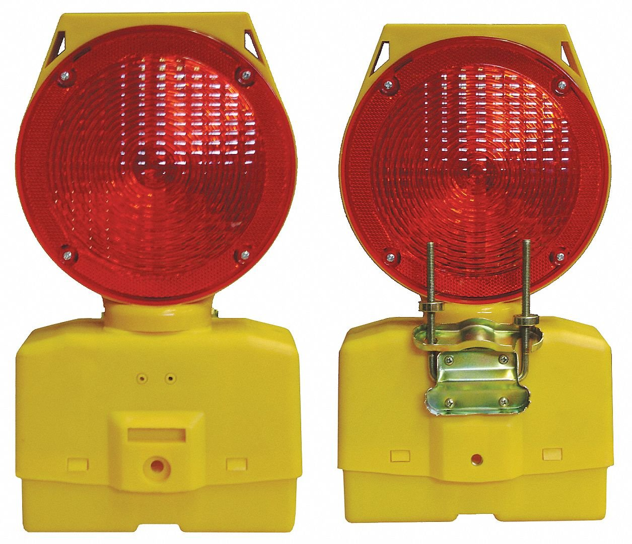 Cortina Safety Products 03-10-RSBLG Solar Barricade Lamp, RED Lens, 6V Rechargeable (Pack of 4)