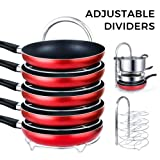 Amazon Price History for:Lifewit Height Adjustable Pan Pot Organizer Rack, 5-Tier Cookware Holder for Cabinet Worktop Storage, 18/10 Stainless Steel
