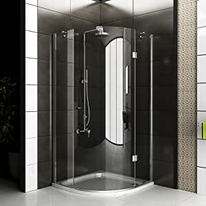 Cabina de ducha/marco para cabina de ducha/ducha 90 x 200 cm aprox/cuadro cuadrante ducha/alpen Berger/modelo Rotondo Clear/cabina de ducha de vidrio: Amazon.es: Hogar