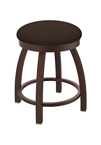 Holland Bar Stool Co. Misha Swivel Vanity Stool, 18 Seat Height, Rein Coffee