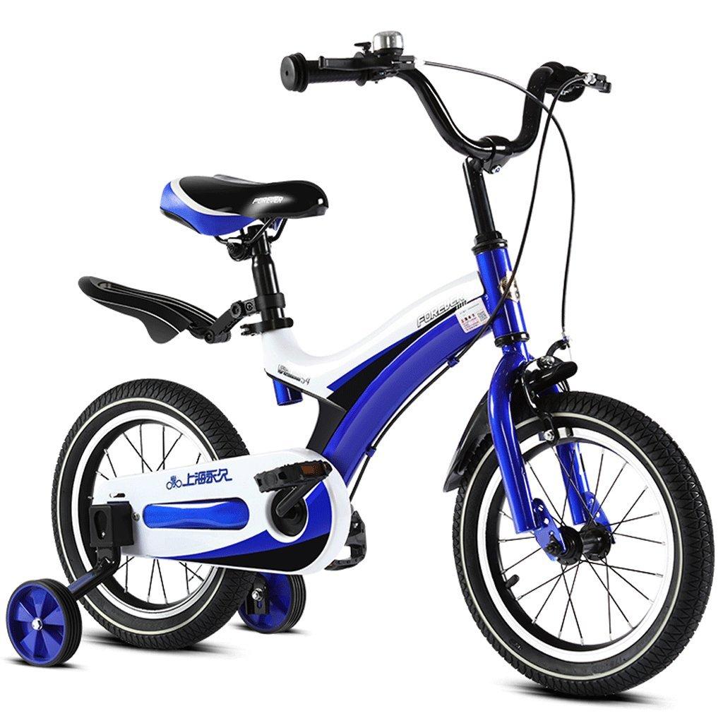 子供の自転車2-12歳の赤ん坊の子供のペダル自転車の少年の少女の赤ちゃんの運送 (色 : 青, サイズ さいず : 16 inches) B07D4DY74W 16 inches 青 青 16 inches