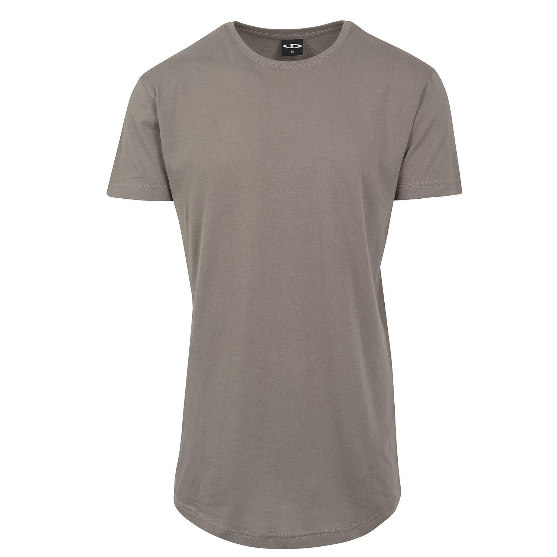 Urbandreamz Herren T-Shirt Shaped Long Tee Rundhals Extra Lang ...