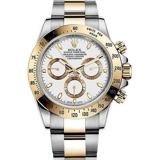 Rolex Daytona gris Cronógrafo Acero y Amarillo Oro Mens Reloj 116523 - gyso: Rolex: Amazon.es: Relojes