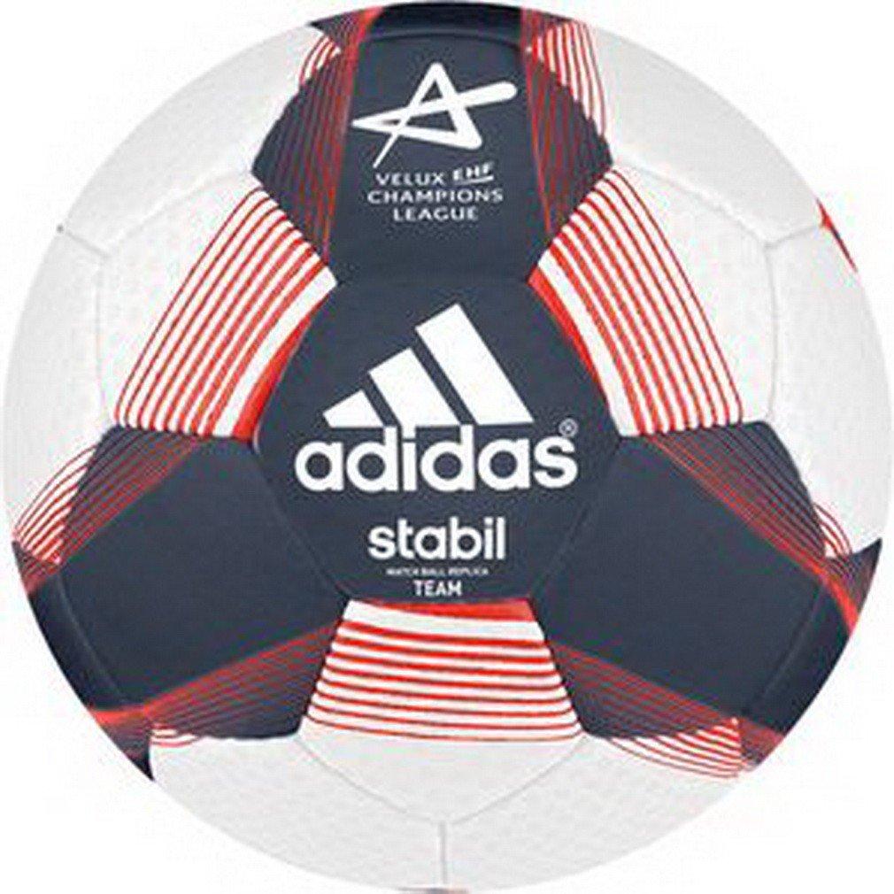 Adidas balón de Balonmano Stabil Team Sport 7 Ricblu/White/Sol - Rojo, Color, Talla 3