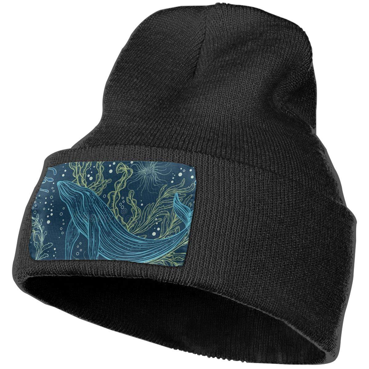 Ruin Blue Whale Fashion Knitting Hat for Men Women 100/% Acrylic Acid Mas Beanie Hat