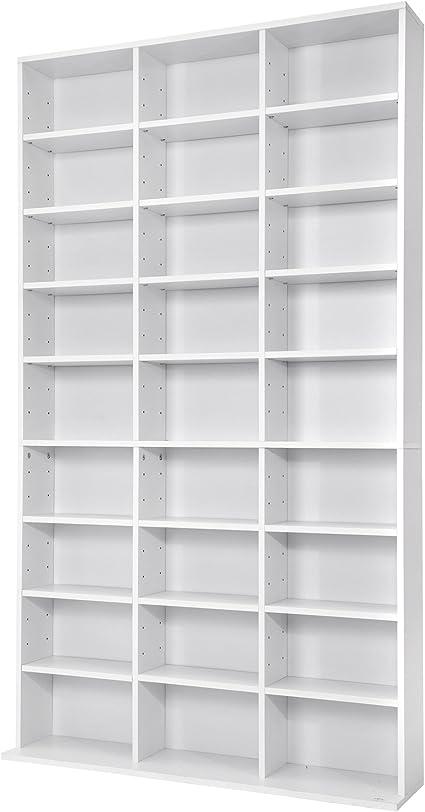 TecTake Estante de CD DVD Shelf archivado 1080 CDs DVDs (Blanco | no. 401703)