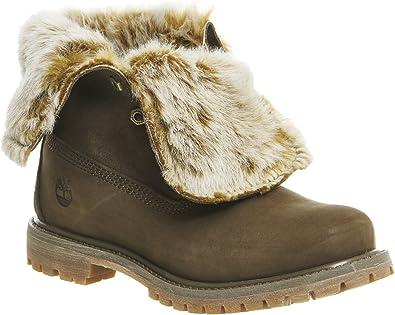 Timberland Faux Fur Fold Down Canteen Nubuck CA19D5, Boots