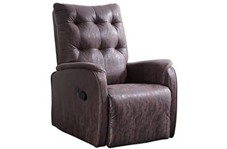SuenosZzz - Sillon Relax reclinable Soft tapizado Tela Antimanchas Color Marron Vintage | Sillon reclinable butaca Relax | Sillon orejero Individual ...