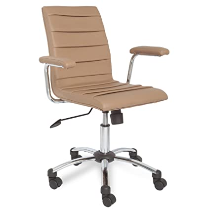 Pleasant Leick Faux Leather Pleated Desk Office Chair Saddle Forskolin Free Trial Chair Design Images Forskolin Free Trialorg