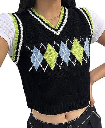 Fall Winter Toddlers Kids Girl Boy Sweater Vest Preppy Argyle Plaid V Neck Twist Waistcoat