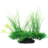 SODIAL(R) Aquarium Emulational Plastique Vert Long Feuille Plante Decor 20cm