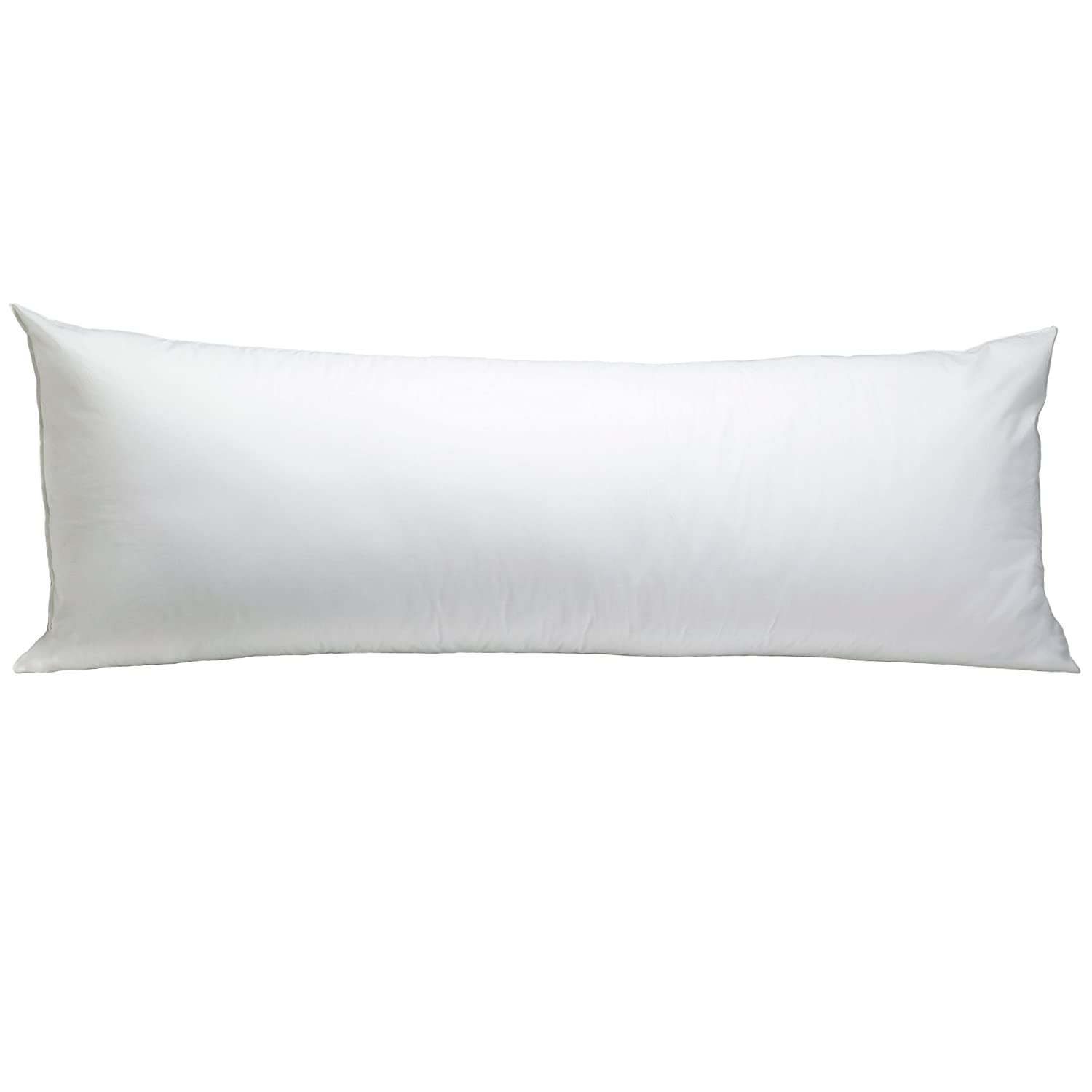 """Breathable Soft Cotton 20/""""x54/"""" Machine Washable Zippered Cover Extends Body Pillow Life Rest Right 100/% Cotton Body Pillow Protector White Keeping Pillow Fresh and Clean"""