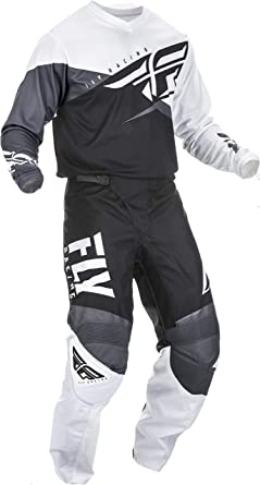 Fly Racing MX Motocross F-16 Pants Black//White//Grey Choose Size