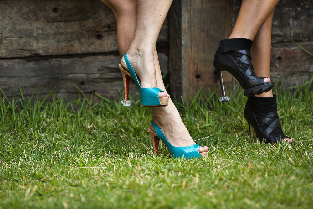 HIGH HEEL PROTECTORS for Shoes on Grass (15 Pair Value Multi-Pack) - Stops Your Heels Sinking - Crystal Clear by Starlettos (Image #9)