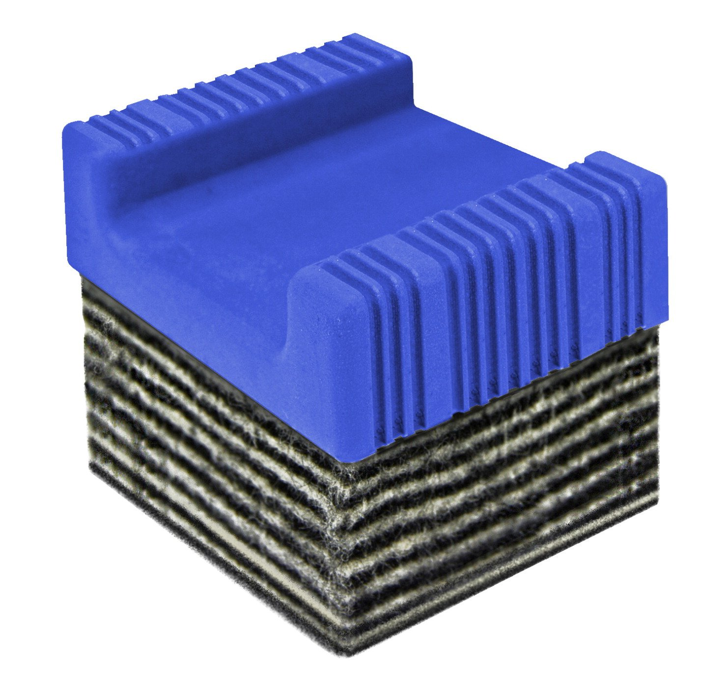 The Classics 15 Layer Dry Erase Whiteboard Eraser, 2 x 2 inches, Black/Blue