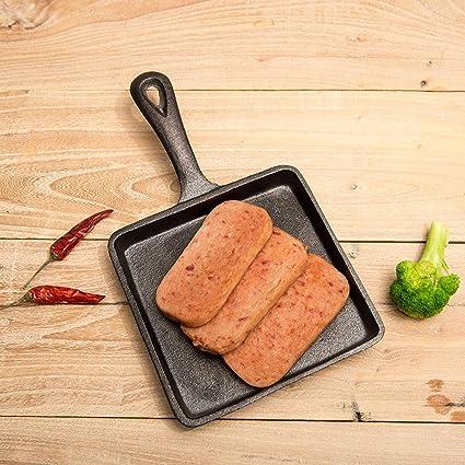 Mini Sartenes de hierro fundido con mango Steak Pan sarten grill ...