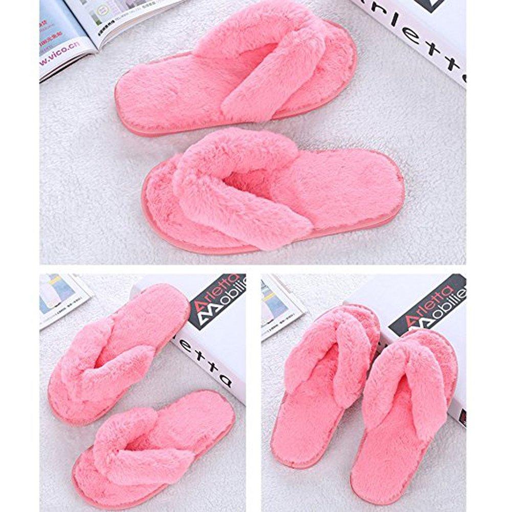 Ancoz Infradito Antiscivolo in Pantofole Calde morbide da Donna (5 (5 (5 Colori) Rosa 37f847