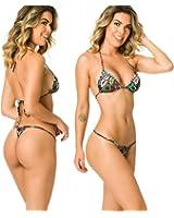 Coqueta Swimwear Women Sexy G-String Teeny Mini Brazilian Bikini Thong Swimsuit