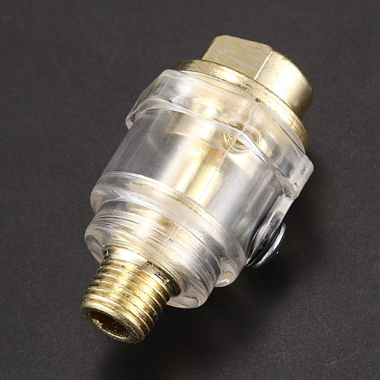 Gaoominy Compressed Lubrificatore Olio Lubrificatore Aria 6Mm Olio Per Nebulizzazione Aria Compressa 1//4 pollice