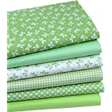 "iNee Green Fat Quarters Quilting Fabric Bundles, Sewing Fabric for Quilting Crafting, 18"" x 22"" (Green)"