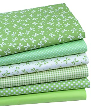 Amazon.com: iNee Green Fat Quarters Fabric Bundles, Quilting ... : fabric for quilting - Adamdwight.com