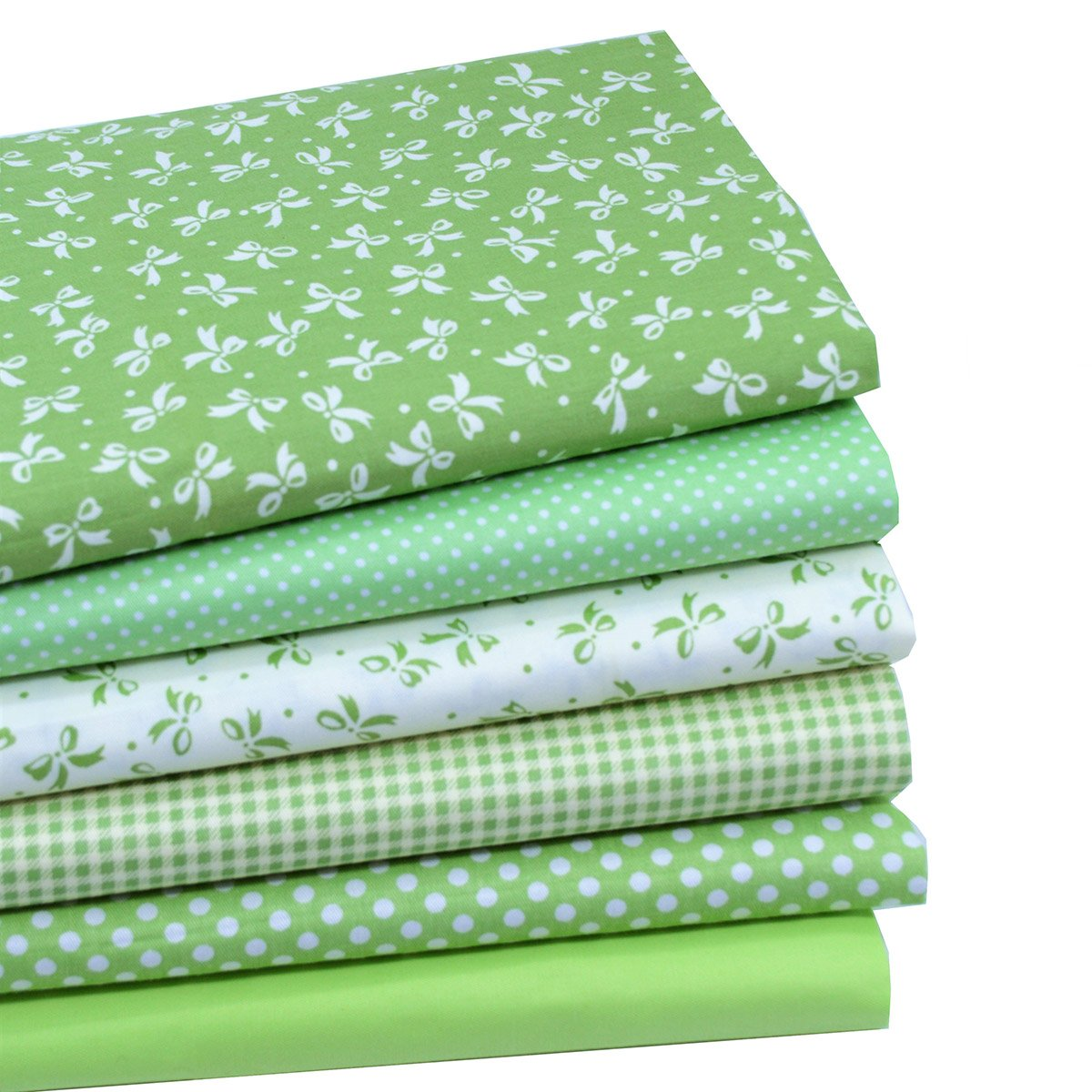 iNee Green Fat Quarters Fabric Bundles, Quilting Fabric for Sewing Crafting, 18 x 22 inches, (Green)