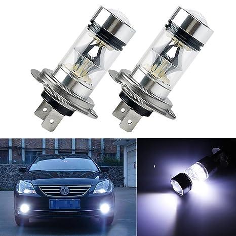 FEZZ LED Bombillas de Coche Auto LED H7 100W Sharp 20SMD Lamparas Iluminación Para faros antiniebla