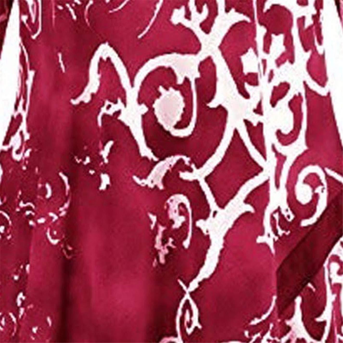ZahuihuiM Femmes Pull /à Manches Longues Ourlet irr/égulier Ronde d/égrad/é de Couleurs avec Poche t-Shirt Automne Nouvelle Pull l/âche
