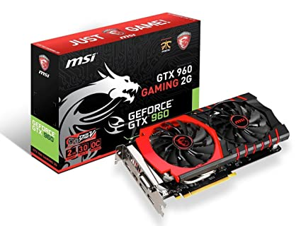 MSI GeForce GTX 960 Gaming 2GB - Tarjeta gráfica (2 GB GDDR5, 7010 MHz, PCI Express 3.0 x16)