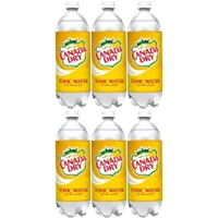 Canada Dry Tonic Water, 33.8 Fl Oz Bottle (Pack of 6, Total 202.8 Fl Oz)