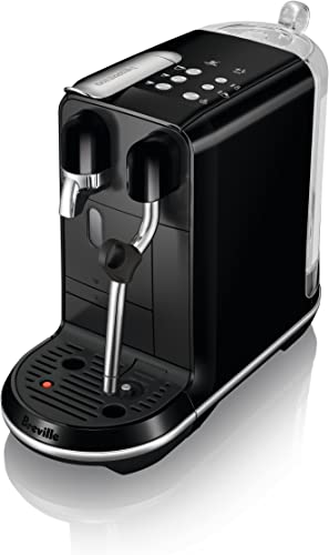 Breville-Nespresso USA BNE500BKS1BUS1 Breville Nespresso Creatista Uno Single Serve Espresso Machine, Black Sesame