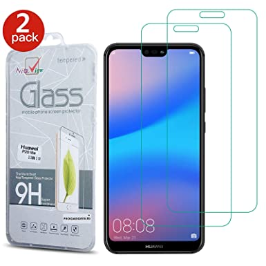 on sale d5599 0b496 [2 Pack] Huawei P20 Lite Screen Protector - Gorilla Tempered Glass Screen  Protector Shockproof Protective LCD Film Guard [Bubble Free] ...
