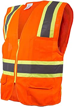 High Visibility Safety Vest Waistcoat Harness with Reflective Strips Yellow