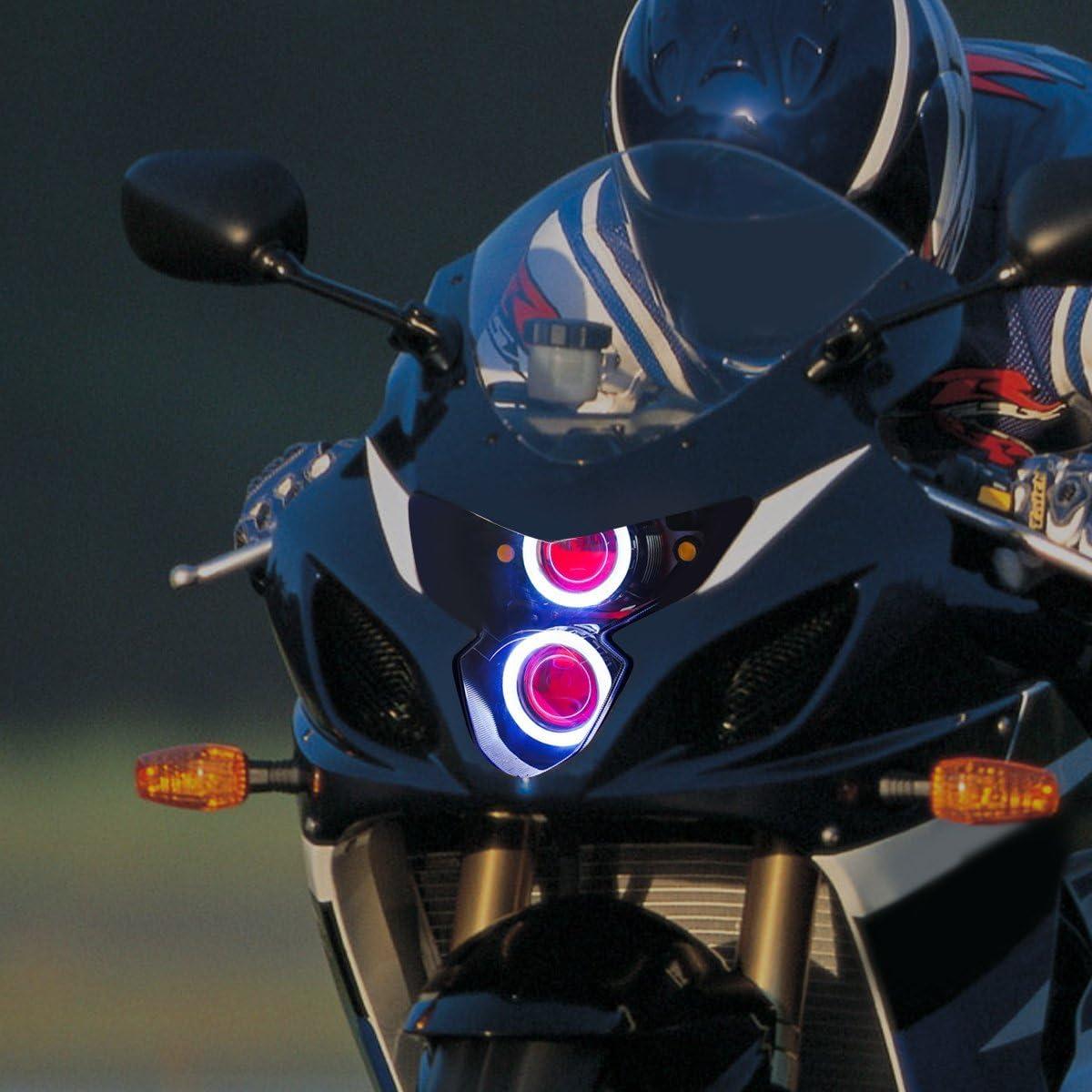 Amazon.com: KT LED Angel Eye Headlight Assembly for Suzuki GSXR600 GSX-R600  2004-2005 Red Demon Eye: Automotive [ 1200 x 1200 Pixel ]