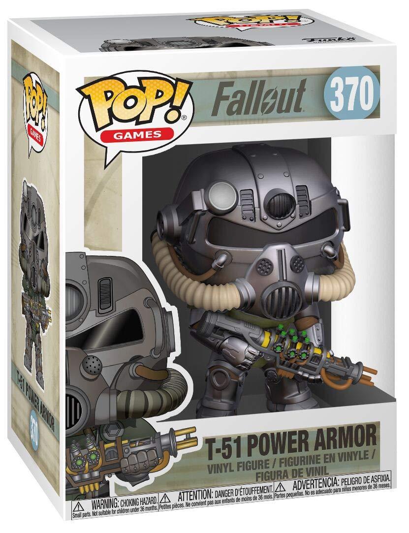 Funko- Pop Vinyl: Games: Fallout S2: T-51 Power Armor Figura Coleccionable, Multicolor, Estándar (33973)