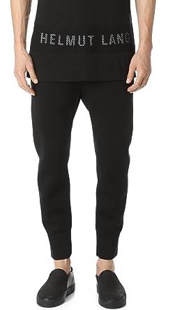 0e10c7a2123fdf Amazon.com  Helmut Lang Men s Sponge Fleece Curved Leg Track Pants ...