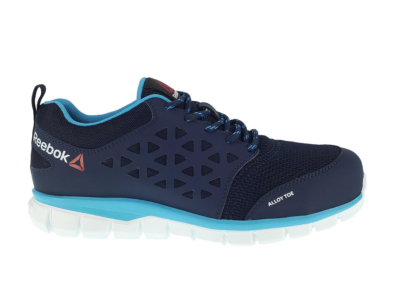Reebok Lavoro IB131 S1P Excel Light Athletic Athletic Oxford, da Donna, Puntale in Alluminio, Micro Fibra e Tomaia in Mesh 3D, Blu/Azzurro