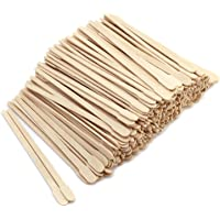 DGQ 500 Pack Wax Spatulas Wood Craft Sticks Small for Hair Removal Eyebrow Wax Applicator Sticks