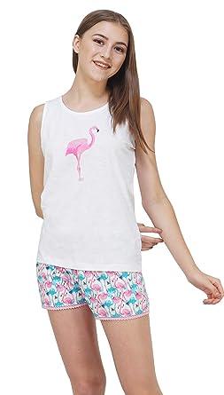 3d330b12aeed Artemis Flamingo Print Drawstring Cotton Top-Shorts Set/Night  Suit/Nightwear/Sleepwear