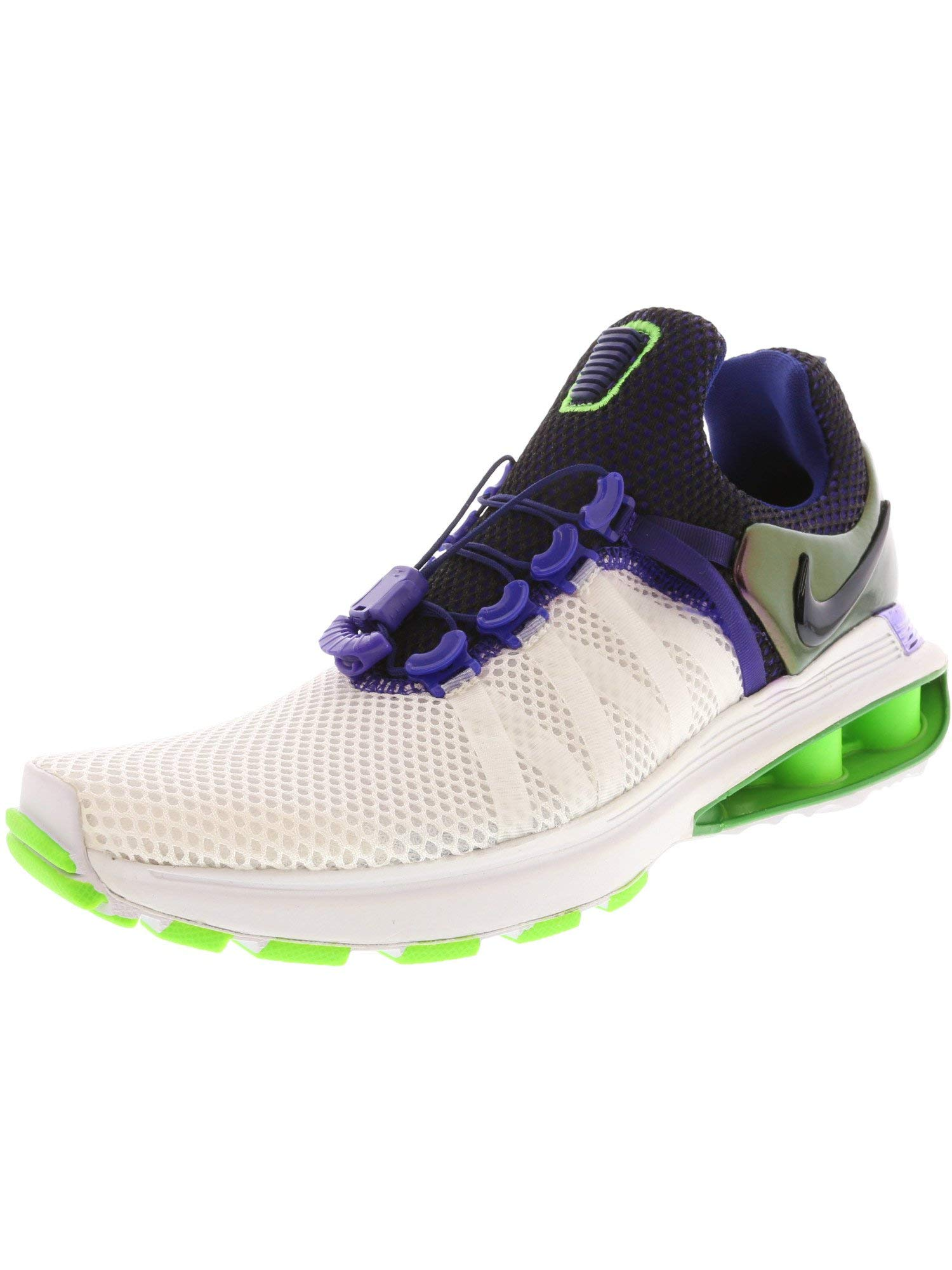 NIKE Women's Shox Gravity Running Shoes-White/Fusion Violet-6.5