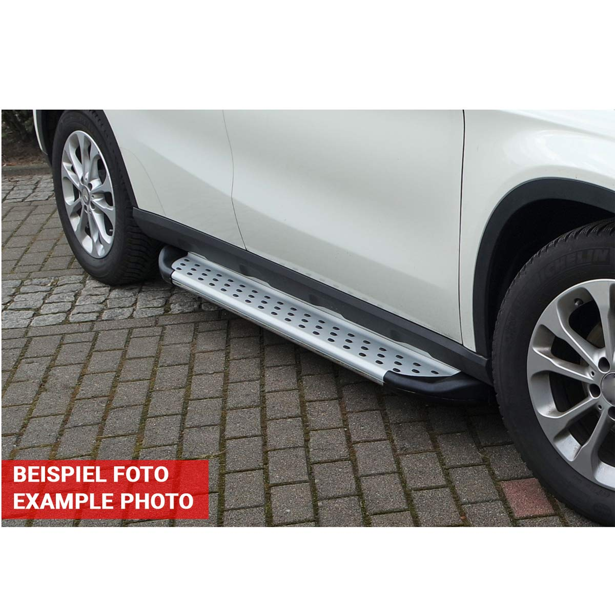 Trittbretter passend f/ür Hyundai IX-35 ab Baujahr 2010-2015 Model Olympus in Chrom mit T/ÜV und ABE