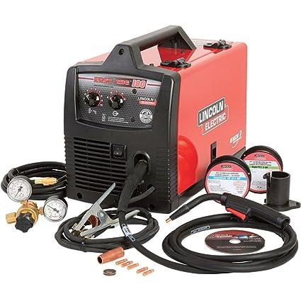 Lincoln Electric Mig Welder >> Lincoln Electric Easy Mig 180 Flux Core Mig Welder Amazon Com