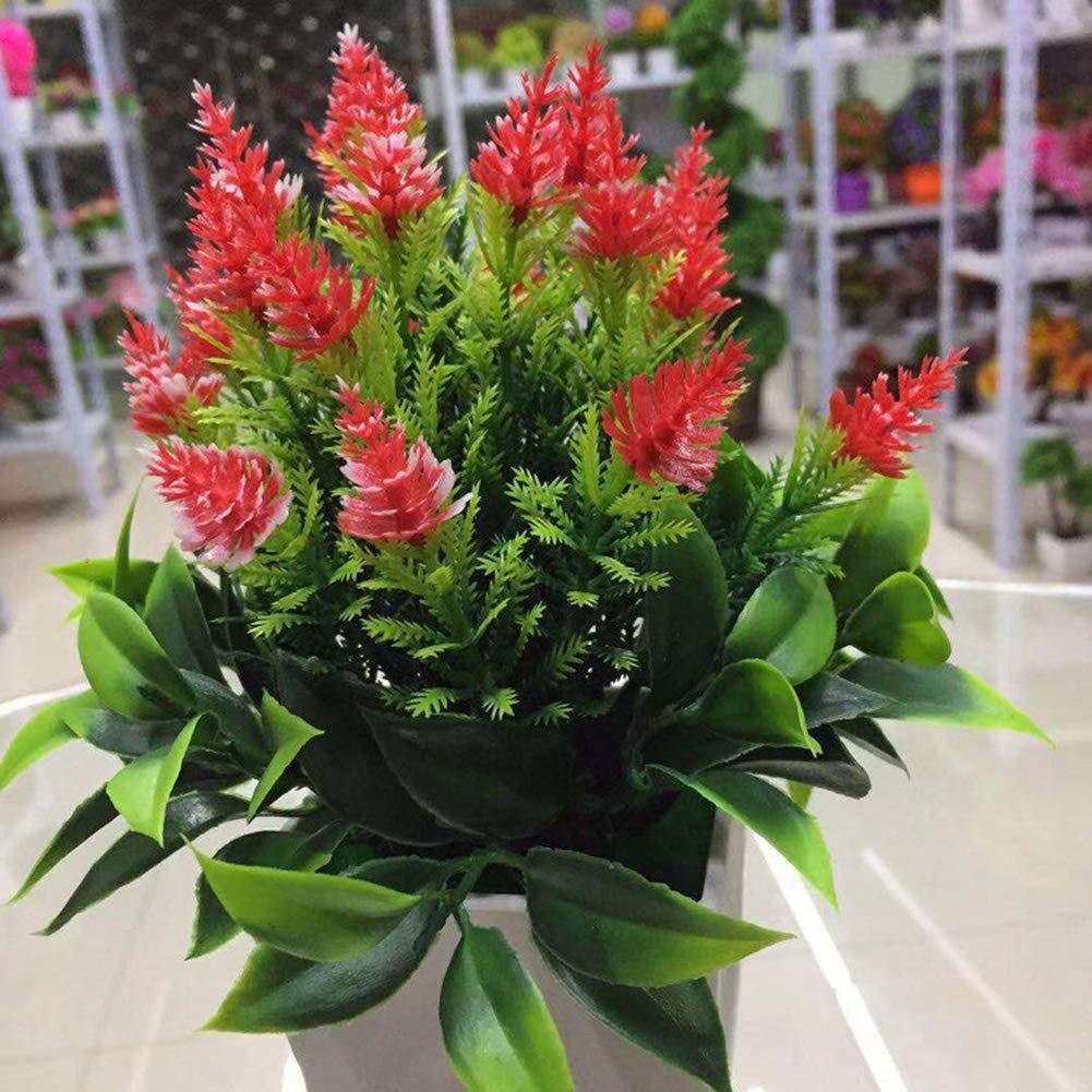 decoraci/ón de Plantas Interiores Oficina Steellwingsf 1 Pieza de Planta Artificial de Pino en Maceta para el hogar jard/ín